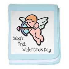 Baby's First Valentine's Day baby blanket