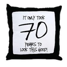 70 Looks Good Throw Pillow