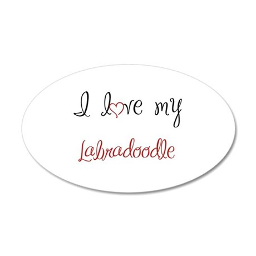 I Love My Labradoodle 38.5 x 24.5 Oval Wall Peel