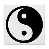 Funny Ying yang Tile Coaster