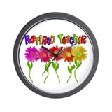 Retired Teacher 2 Wall Clock