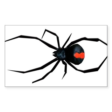 Redback Spider Sticker (Rectangle)
