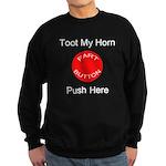 Fart Button Toot My Horn Dark Sweatshirt (dark)