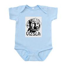 Vizsla Puppy In Black And Whi Infant Bodysuit