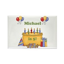 Boys customized birthday Rectangle Magnet
