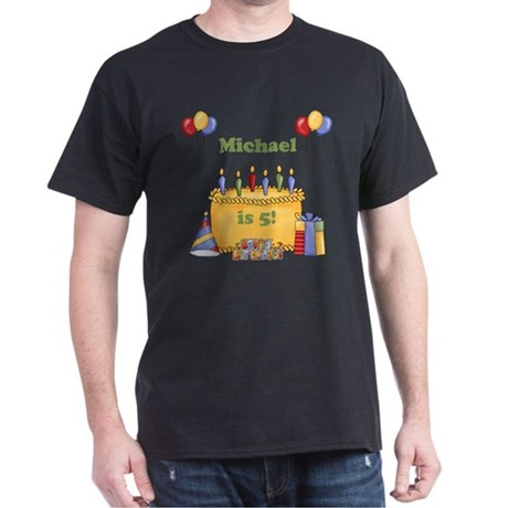 Boys customized birthday Dark T-Shirt