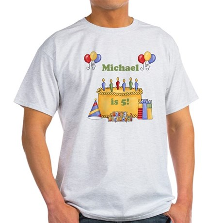 Boys customized birthday Light T-Shirt