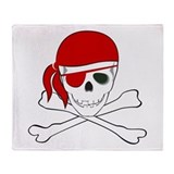 Cute Pirate Throw Blanket