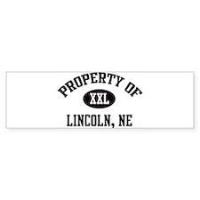 Property of Lincoln Bumper Bumper Sticker