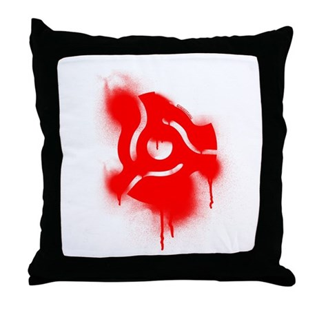 45 Graffiti Throw Pillow