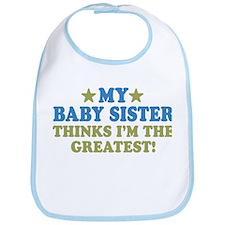 Greatest Baby Sister Bib