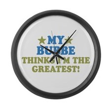 Greatest Bubbe Large Wall Clock