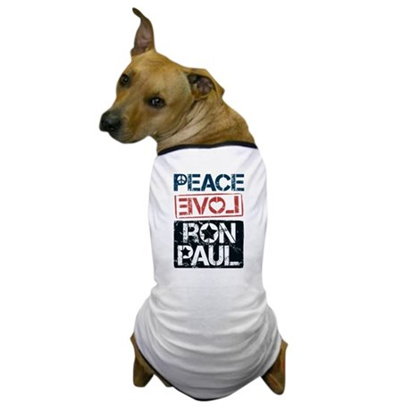 Peace Love Ron Paul Dog T-Shirt