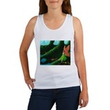 Green Drifting Mist Women's Tank Top
