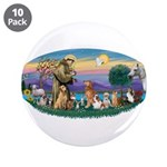 """StFrancis-Dogs-Cats-Horse 3.5"""" Button (10 pac"""