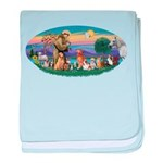 StFrancis-Dogs-Cats-Horse baby blanket