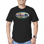 StFrancis-Dogs-Cats-Horse Men's Fitted T-Shirt (da