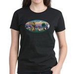 StFrancis-Dogs-Cats-Horse Women's Dark T-Shirt