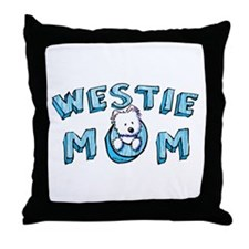 Westie MOM Throw Pillow