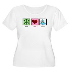Peace Love Sharks T-Shirt