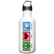 Peace Love Unicorns Water Bottle