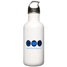 PEACE LOVE CHIROPRACTIC Water Bottle