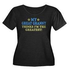 My Great Granny Women's Plus Size Scoop Neck Dark