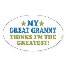 My Great Granny Sticker (Oval 10 pk)