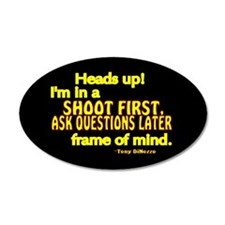 NCIS Quote: Shoot First Wall Decal