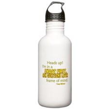 NCIS Quote: Shoot First Water Bottle