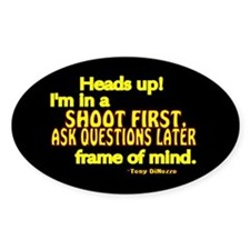 NCIS Quote: Shoot First Decal