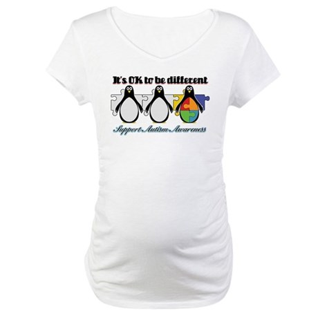 Okay To Be Different Autism Maternity T-Shirt