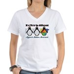 Okay To Be Different Autism Women's V-Neck T-Shirt