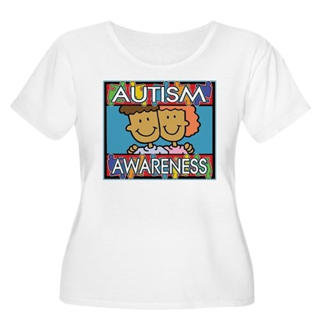 Cute Autism Awareness Women's Plus Size Scoop Neck