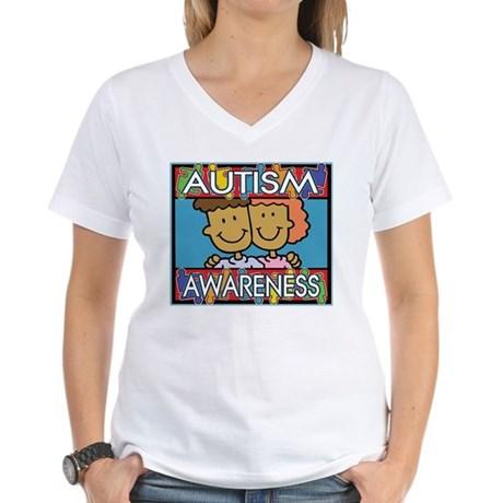 Cute Autism Awareness Women's V-Neck T-Shirt