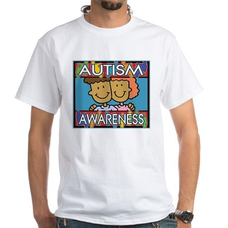 Cute Autism Awareness White T-Shirt