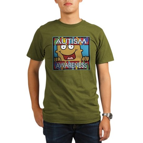 Smile Autism Awareness Organic Men's T-Shirt (dark