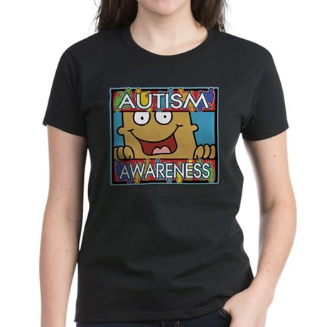 Smile Autism Awareness Women's Dark T-Shirt