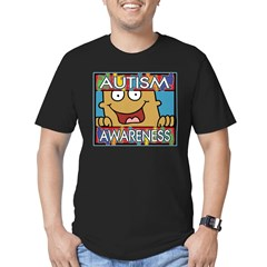 Smile Autism Awareness Men's Fitted T-Shirt (dark)
