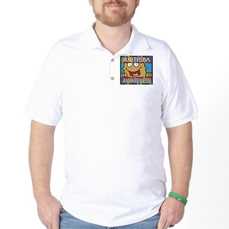 Smile Autism Awareness Golf Shirt