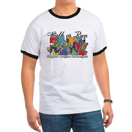 Walk or Run Autism Ringer T