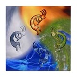 Kokopelli Elemental Power Tile Coaster