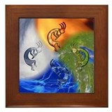 Kokopelli Elemental Power Framed Tile