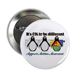 """Okay To Be Different Autism 2.25"""" Button"""