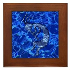 Kokopelli Elemental (Water) Framed Tile