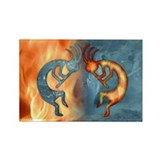 Kokopelli Fire & Ice (NEW) Rectangle Magnet