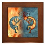 Kokopelli Fire &amp; Ice (NEW) Framed Tile