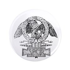 "CANE SPQR Eagle 3.5"" Button"