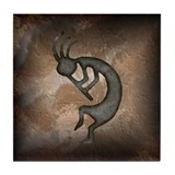 Kokopelli Stone Tile Coaster