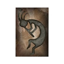 Kokopelli Stone Rectangle Magnet (10 pack)